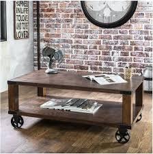 industrial cart coffee table industrial cart coffee table vintage rustic wood metal wheel storage shelf brown antique factory cart coffee table