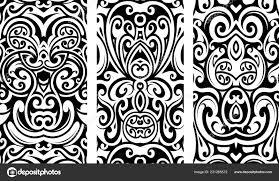 тату орнамент этническими элементами векторное изображение