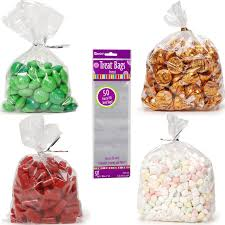 clear plastic treat party favor bags
