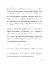 disability essay  nor zation 3 4