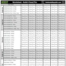 workout sheets body beast worksheets dedicated republic