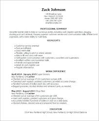 Sample Cashier Resume Resume Examples For Cashier Cashier Examples