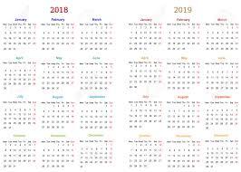 17 Month Calendar 12 Months Calendar Design 2018 2019 Printable And Editable