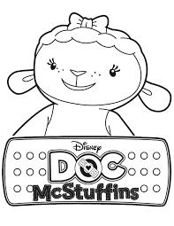 Lambie Doc Mcstuffins Coloring Pages Coloringstar