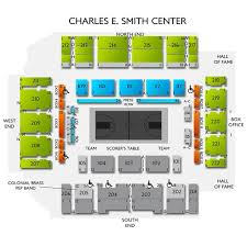 Charles E Smith Center Seating Chart Davidson Wildcats At George Washington Colonials Tickets 1