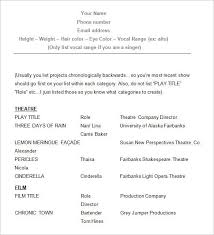 Theatre Resume Example New Sample Acting Resume How To Create A Good