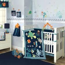 blue crib bedding sets colorful blue ocean sea life baby boy nursery crib bedding set w blue crib bedding