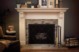 antique fireplace mantel with mirror