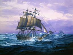 oil paintings of sailing ships inch hd poster oil painting print on canvas 11 ocean sailing ship jpg