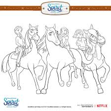 free coloring pages to download. Perfect Coloring Spirit Cartoon Netflix Coloring Pages Download 6 F In Riding Free For To G