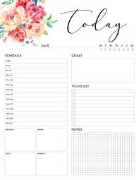 Daily Planner Template 2020 Free Printable 2020 Planner 50 Plus Printable Pages The