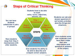 Critical Thinking Applied in Nursing Application of critical thinking is  vital to each step of