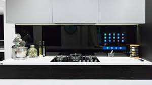 Tv In Kitchen The Blocktagon Touchscreen Splashback Kitchen Reveals Kingi