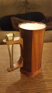 picture of making beer tankards on the lathe
