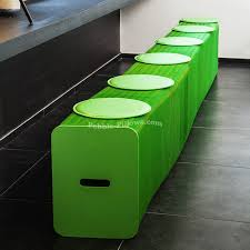 eco friendly multifunction seating. Accordion-benches-green-07 Eco Friendly Multifunction Seating