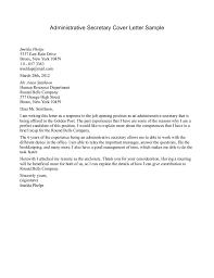 Cover Letter For Secretary Job Application Cover Letter