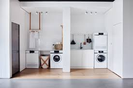 all white laundry room in melbourne v zug whiting architects