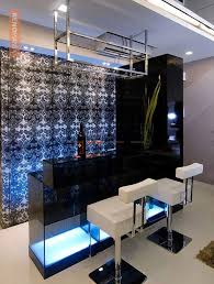 bar with wallpaper on wall design photos