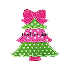 Girly Embroidery Designs Girly Christmas Tree Clipart