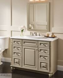 Kraftmaid Vanity Cabinets With A Premium Finish Of Willow With Cocoa Patina This Kraftmaid