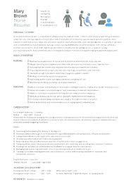 Curriculum Vitae For Nurses Simple Curriculum Vitae Examples Nursing Template Nurse Resume Sample