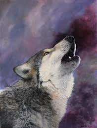 wolf howling painting. Exellent Painting Wolf Painting  Howling By Harm Plat Throughout A