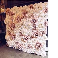 Pink Paper Flower Decorations 2019 2018 Mix Baby Pink Ivory Giant Paper Rose Artificial Flowers For Wedding Party Backdrop Decorations Flower Walls From Fivestarshop 1305 53