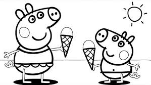 Small Picture Coloring Pages Magnificent Peppa Coloring Pages Family Muddy