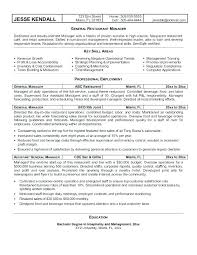 Sample General Manager Resume