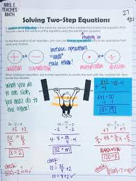 solving two step equations interactive notebook page