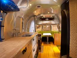 The 28-foot Airstream International Series features interiors by  Christopher C. Deam; it