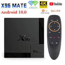 2020 X96 Mate akıllı TV kutusu Android 10 Allwinner H616 4GB 64GB 32GB 2.4G  & 5G Wifi 4K HD Google Media Player Android TV kutusu|Set-top Boxes