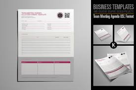 Team Meeting Agenda Usl Format ~ Templates ~ Creative Market