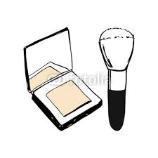 vector make up s set face cosmetic pact and loose powder with brush applicator