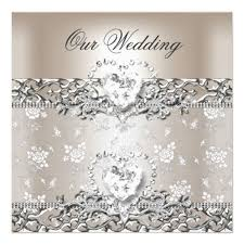 209 best diamond wedding invitations images on pinterest silver Diamond Wedding Cards And Gifts elegant wedding silver cream diamond heart card Wedding Anniversary Gifts by Year