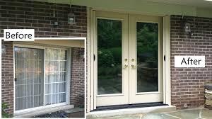 distinctive french doors to patio french doors to replace sliding glass patio saudireiki