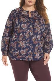 Caslon R Print Shirt Plus Size