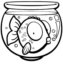 Small Picture Big Eyed Fish in Fish Bowl Coloring Page Big Eyed Fish in Fish