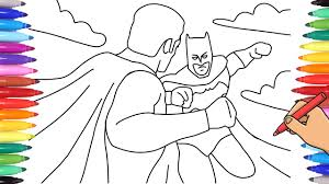 Print batman coloring pages for free and color our batman coloring! Watch How To Draw A Superheroes Coloring Page With Markers Batman Vs Superman Coloring Page Youtube