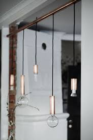 copper diy diy bathroom copper lighting