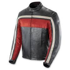 joe rocket men s old school red black ivory leather jacket