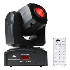 american dj inno pocket spot moving head led dmx adj gobo light remote 12w