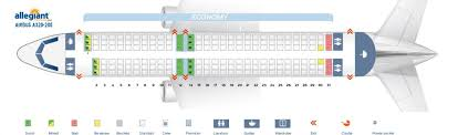 Precise Airbus A320 100 200 Seat Chart Frontier Airlines