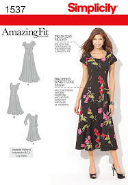Simplicity Patterns Delectable Misses Amazing Fit Dress Simplicity Pattern 48 Sew Essential