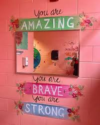 elementary school bathroom design woman paints motivational messages in middle girls bathrooms abc design t6 school