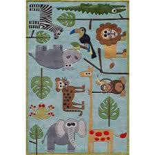 ca animals blue 3 ft x 5 ft indoor area rug