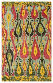safavieh ikat ikt222b blue green rug mediterranean area rugs by plushrugs