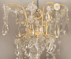 special mid 19th century gilt bronze and baccarat crystal chandelier
