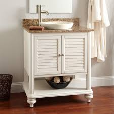 single white bathroom vanities. Bathroom. Single White Wooden Open Shelf Vanity And Drawers Plus Round Sink Brown Bathroom Vanities