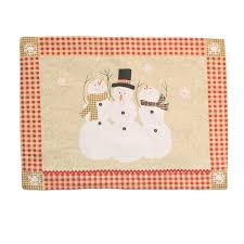 household dining table set christmas snowman knife: whole sales set of  pcs christmas decoration fabric dining table mat snowily placemat